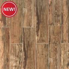 New! Westford Brown III Wood Plank Porcelain Tile