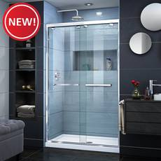 New! Encore Chrome Semi-Frameless Bypass Sliding Shower Door