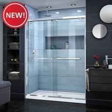 New! Encore Chrome Semi-Frameless Bypass Sliding Shower Door