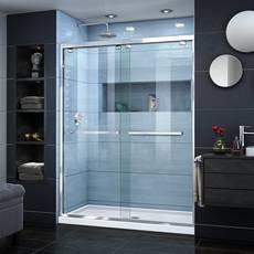 Encore Chrome Semi-Frameless Bypass Sliding Shower Door