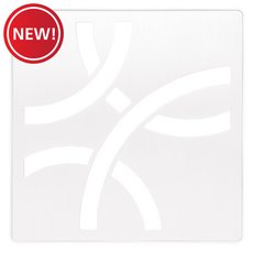 New! Schluter Kerdi-Drain 4in. Grate Matte White Curve
