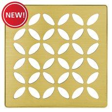 New! Schluter Kerdi-Drain 4in. Grate Classic Gold