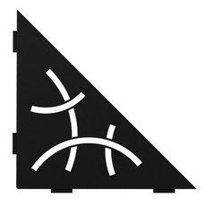 Schluter Shelf Triangular Corner Curve Matte Black