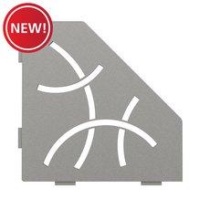 New! Schluter Shelf Pentagonal Corner Curve Stone Grey