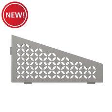 New! Schluter Shelf Quadrilateral Corner Floral Stone Grey