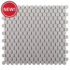 New! Gray Porcelain Penny Mosaic