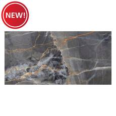 New! Zena Black Black Polished Porcelain Tile