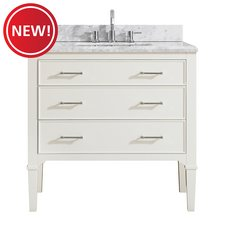 New! Arlington 37 in. Vanity with Carrara Marble Top