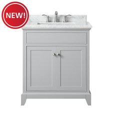 New! Aurora 31 in. Vanity with Carrara Marble Top