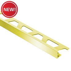 New! Schluter Jolly Edge Trim 3/8in. Aluminum Polish Brass