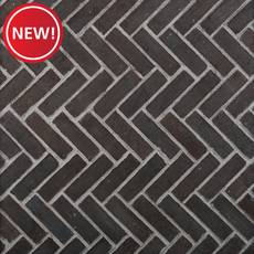 New! Carbon Black Thin Brick Herringbone Panel Ledger