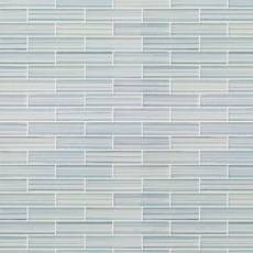 Maya Bay Mist 1 x 4 in. Brick Glass Mosaic