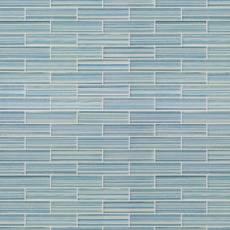 Maya Bay Tide 1 x 4 in. Brick Glass Mosaic