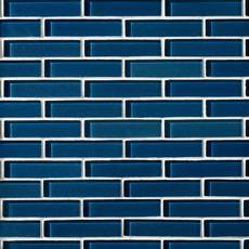 Maya Bay Lapis 1 x 4 in. Glass Brick Tile