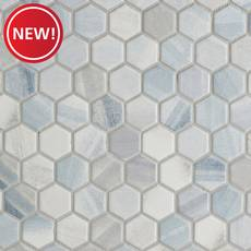 New! Beaumont Shadow 1.5 in. Hexagon Ceramic Mosaic