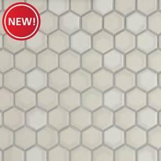 New! La Belle Purity 1.5 in. Hexagon Ceramic Mosaic