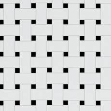 Black and White Basket Weave Porcelain Tile