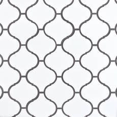 Lunar Porcelain Arabesque Mosaic