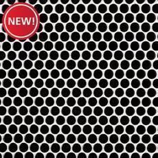 New! Matte Black Porcelain Penny Mosaic