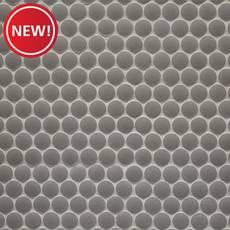 New! Mate Gray Penny Porcelain Tile