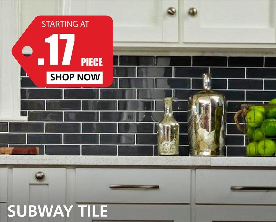 Subway Tile starting at $0.21 per piece