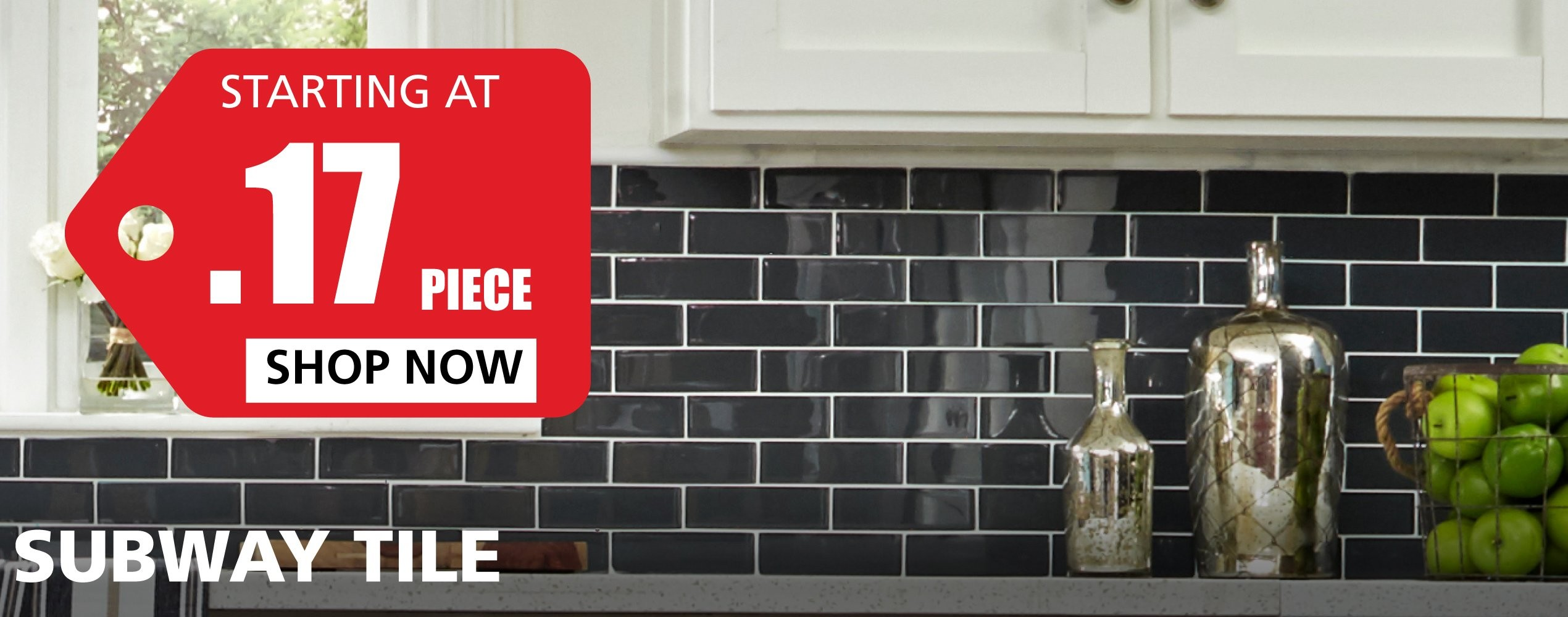 Subway Tile starting at $0.17 per piece