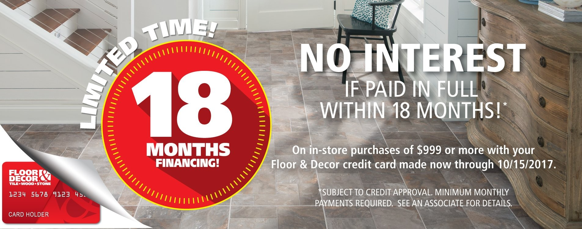 floor and decor credit card credit center floor decor 6684