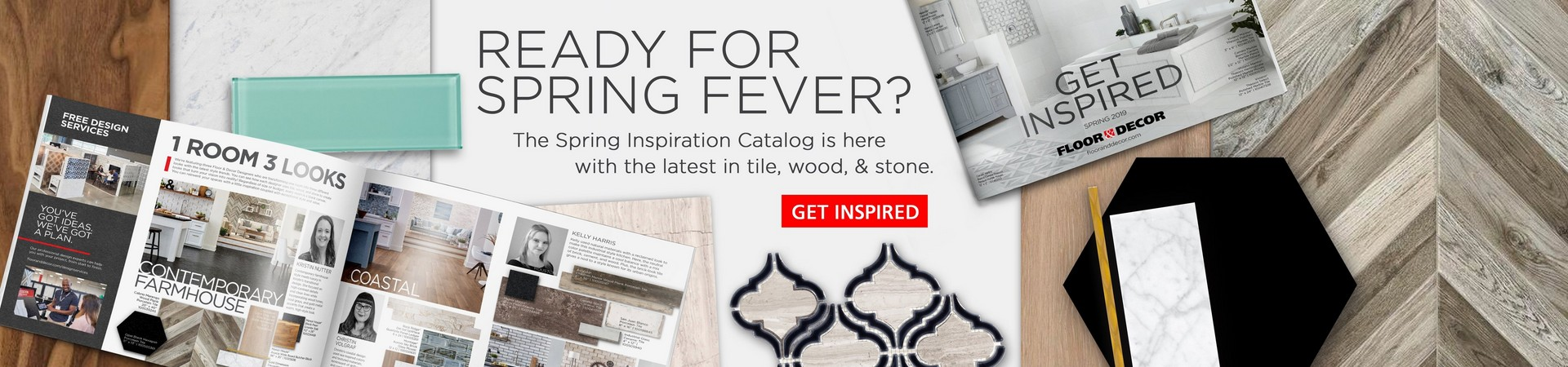 The Spring Inspiration Catalog is here with the latest in tile, wood, and stone.