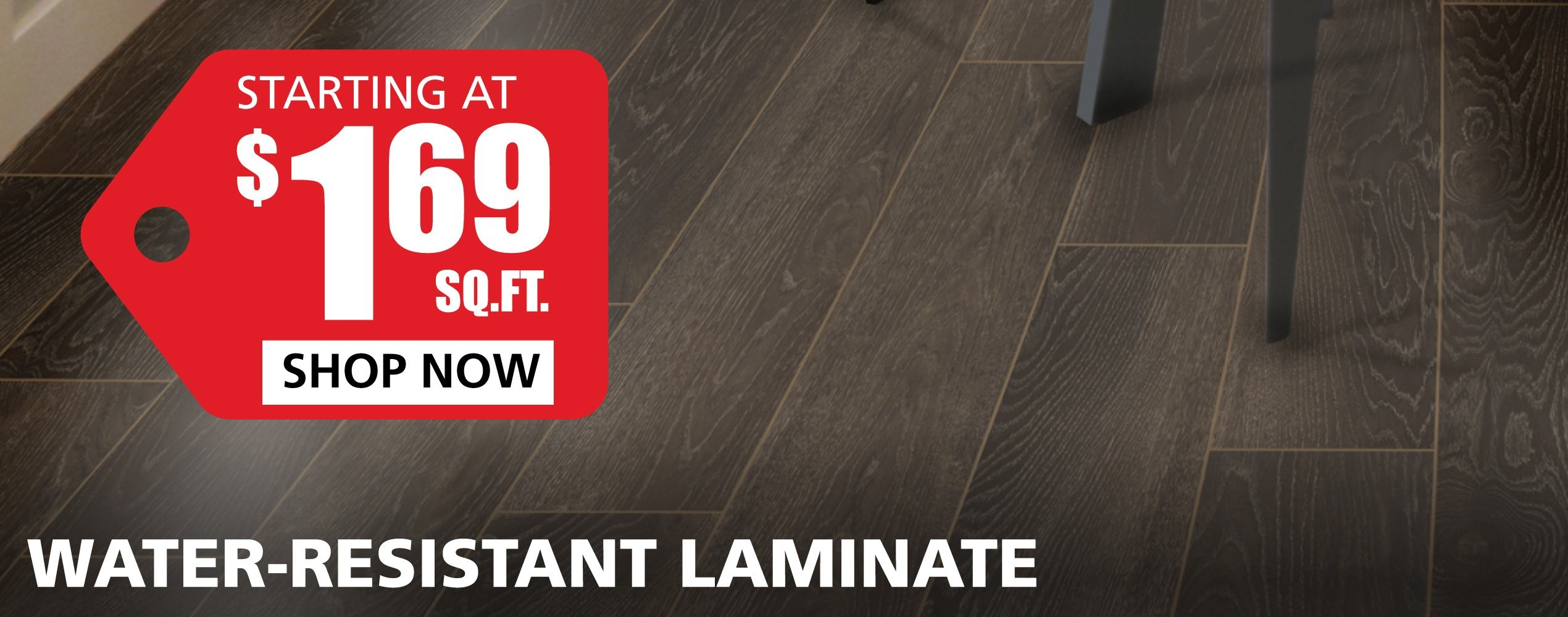 Water Resistant Laminate starting at $1.89 per square foot