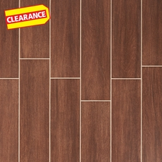 Clearance! Shenandoah Brown White Body Wood Plank Ceramic Tile