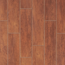 Bangor Cherry White Body Wood Plank Ceramic Tile