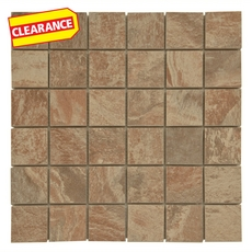 Clearance! Spanish Steps Rust Porcelain Mosaic