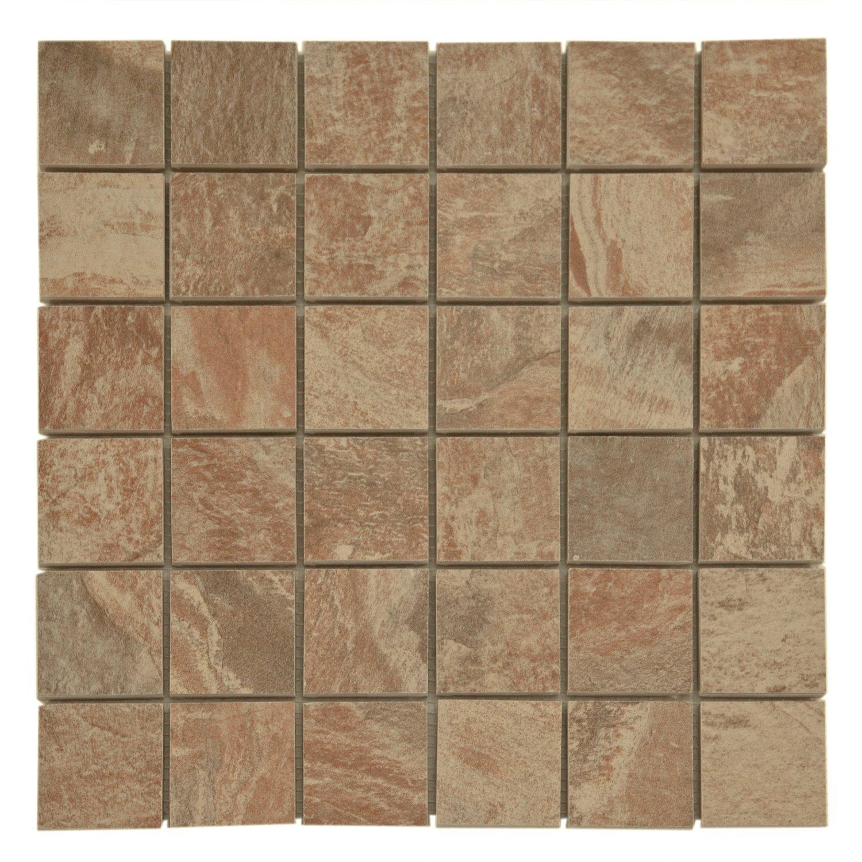 Spanish Steps Rust Porcelain Mosaic 12 X 12 912100285 Floor