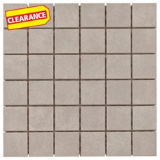Clearance! Uptown Gray Porcelain Mosaic