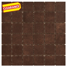Clearance! Uptown Brown Porcelain Mosaic
