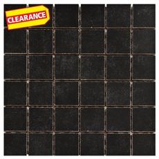 Clearance! Uptown Black Porcelain Mosaic