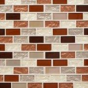 Agrigento 1 x 2 in. Brick Glass Mosaic