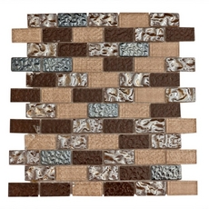 Montage Modica Brick Multi Finish Glass Mosaic