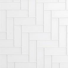 Snow White Shiny Glass Tile