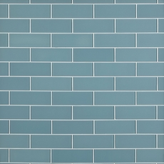 Spa Blue Shiny Glass Tile 3 X 9 913102068 Floor And