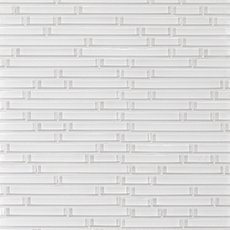 Snow Linear Glass Mosaic