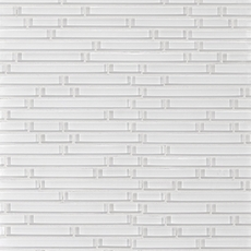 Snow White Shiny Stick Glass Mosaic