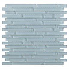 Spa Blue Linear Glass Mosaic