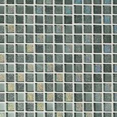 Montage Shiny Gray Square Mix Crystal Glass Mosaic
