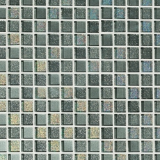 Shiny Gray Square Mix Crystal Glass Mosaic