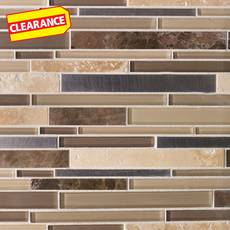 Clearance! Cappuccino Stone Metal Mix Mosaic