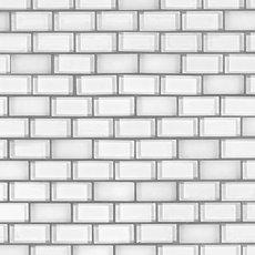 Snow Mix Brick Glass Mosaic