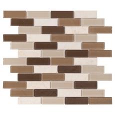 Stone Henge Classic Multi Finish Brick Glass Mosaic