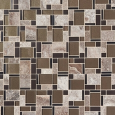 Montage Stone Matrix Classic Polished Glass Mosaic