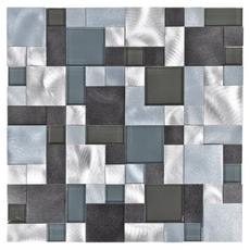 Metallico Ocean Pattern Metal and Glass Mosaic